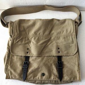 JCrew 100% Cotton Khaki Satchel Messenger Bag